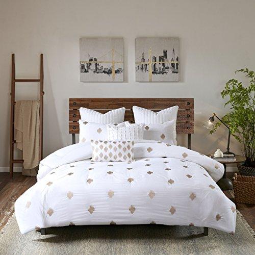 INKIVY Stella Dot Comforter Set FullQueen88x92 Metallic Copper 0 0