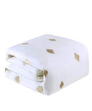 INKIVY Stella Dot Comforter Set FullQueen88x92 Metallic Copper 0 3 300x360