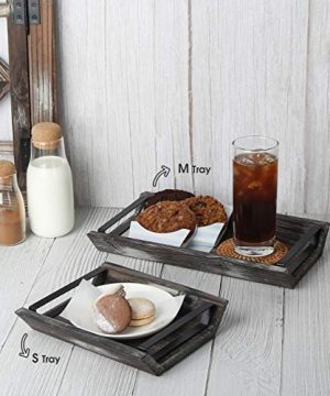 J JACKCUBE DESIGN Rustic Wood Decorative Tray With Handles Set Of 3 Serving Trays Wooden Platter Centerpieces For Coffee Table Dining Room Kitchen Bed MK541A 0 0 300x360
