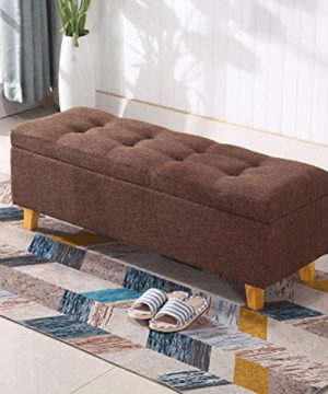 JQQJ Ottomans Bench Two Sizes 2432 Bedroom Bench Storage Ottoman Bench Foot Stool Storage Stool For Home Color Coffee Size 60x40x42cm 0 0 300x360