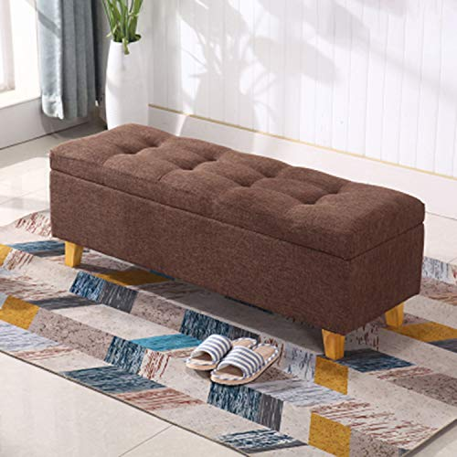 JQQJ Ottomans Bench Two Sizes 2432 Bedroom Bench Storage Ottoman Bench Foot Stool Storage Stool For Home Color Coffee Size 60x40x42cm 0 0