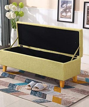 JQQJ Ottomans Bench Two Sizes 2432 Bedroom Bench Storage Ottoman Bench Foot Stool Storage Stool For Home Color Coffee Size 60x40x42cm 0 5 300x360