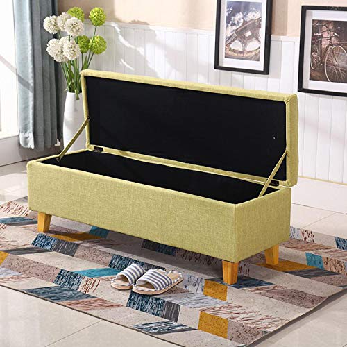 JQQJ Ottomans Bench Two Sizes 2432 Bedroom Bench Storage Ottoman Bench Foot Stool Storage Stool For Home Color Coffee Size 60x40x42cm 0 5