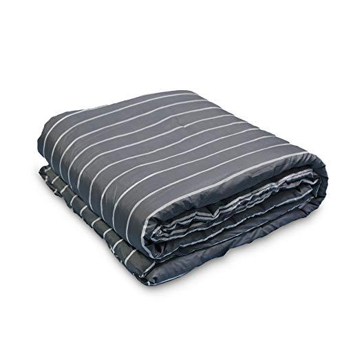 Janzaa 3pcs Striped Comforter Set Queen Soft Microfiber Modern Pattern Home Bedding Comforter Set With 2 Pillow CasesQueen 0 2