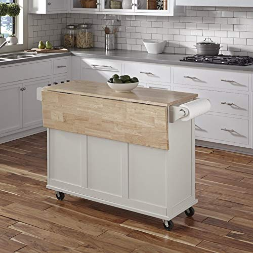 Kitchen Cart With Wood Top 0 0