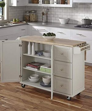 Kitchen Cart With Wood Top 0 1 300x360