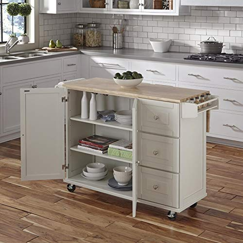 Kitchen Cart With Wood Top 0 1