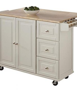 Kitchen Cart With Wood Top 0 2 300x360