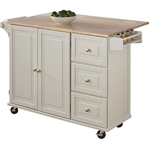 Kitchen Cart With Wood Top 0 2