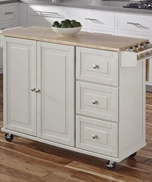Kitchen Cart With Wood Top 0 3 300x360
