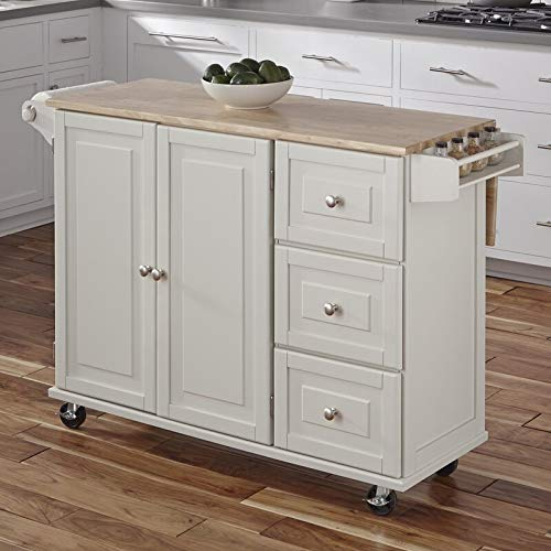 Kitchen Cart With Wood Top 0 3