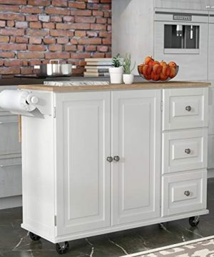 Kitchen Cart With Wood Top 0 300x360