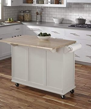 Kitchen Cart With Wood Top 0 5 300x360