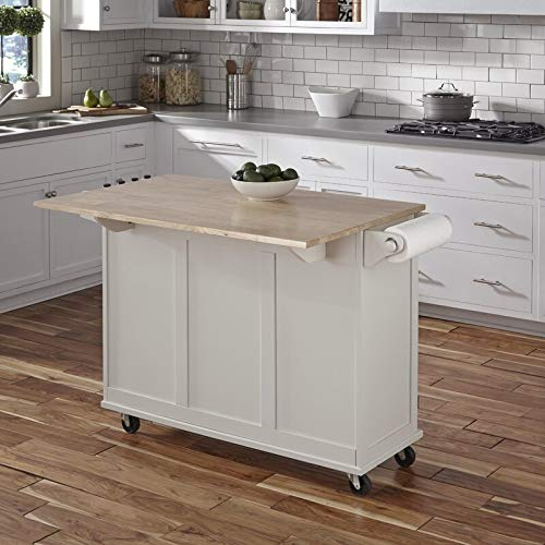 Kitchen Cart With Wood Top 0 5