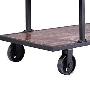 LOKKHAN 3 Tier Industrial Serving Cart With Wheels Wood And Metal Rolling Utility CartHome Kitchen Trolley Wine CartHeavy Duty Commercial Bar Cart 0 4 300x300