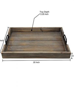 Large 14x20 Decorative Nested Vintage Wood Serving Tray For Coffee Table Or Ottoman Rustic Wooden Breakfast Trays For Kitchen Dining Room Or Living Room Farmhouse Platter WHandles Barnwood 0 0 300x360