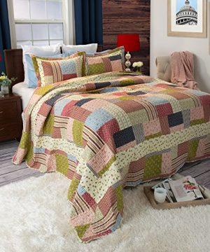 Lavish Home Savannah Printed 2 Piece Quilt Set Twin 0 300x360