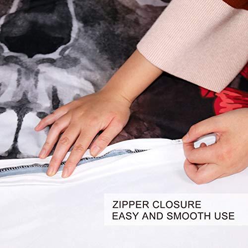 Lianai Black And White Grid Cotton Duvet Cover Set Twin Size 2 Piece Farmhouse Bedding Sets 1 Duvet Cover 1 Pillow Shames 0 0