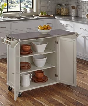 Liberty Off White Kitchen Cart With Stainless Steel Top By Home Styles 0 0 300x360