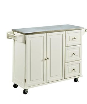 Liberty Off White Kitchen Cart With Stainless Steel Top By Home Styles 0 1 300x360