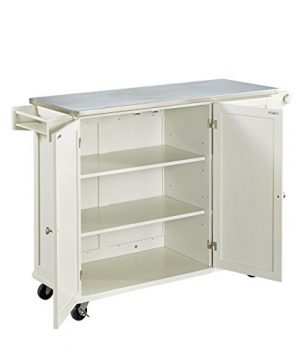Liberty Off White Kitchen Cart With Stainless Steel Top By Home Styles 0 2 300x360