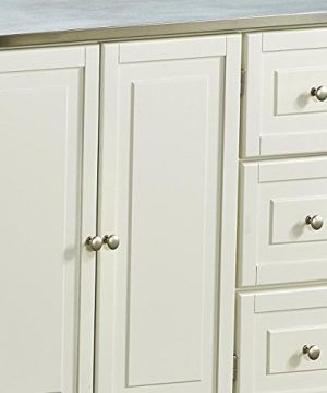 Liberty Off White Kitchen Cart With Stainless Steel Top By Home Styles 0 3 300x360
