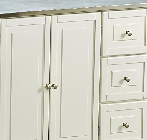 Liberty Off White Kitchen Cart With Stainless Steel Top By Home Styles 0 3