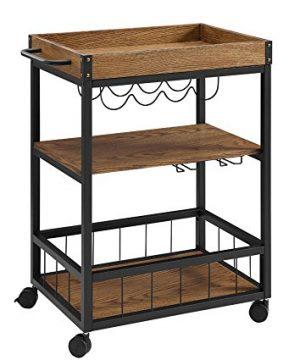 Linon Austin Kitchen Cart 305W X 1813D X 3625H Black 0 300x360