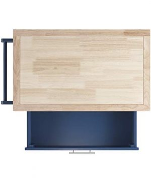 Linon Home Decor Products Marlow Kitchen Cart Denim With Wood Top 0 4 300x360