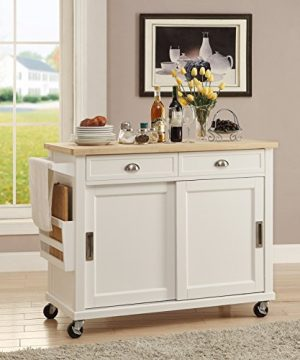 Linon Kitchen Cart White 0 300x360
