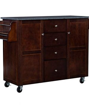 Linon Tori Wood Kitchen Cart In Espresso 0 300x360