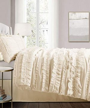 Lush Decor Belle 4 Piece Ruffled Comforter Set With Bed Skirt And 2 Pillow Shams King Ivory 0 0 300x360