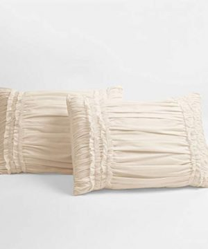 Lush Decor Belle 4 Piece Ruffled Comforter Set With Bed Skirt And 2 Pillow Shams King Ivory 0 3 300x360