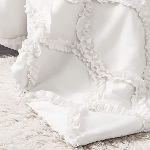 Lush Decor Comforter Ruffled 3 Piece Set With Pillow Shams Full Queen White 0 2