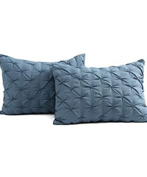 Lush Decor Stormy Blue Ravello Shabby Chic Style Pintuck 5 Piece Comforter Set With Pillow Shams Full Queen 0 3 300x360