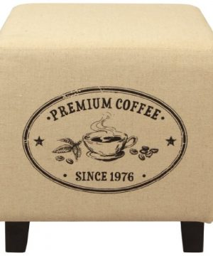 Lux Home Vintage Recycle Ottoman Footstool Coffee Pattern Design 0 300x360
