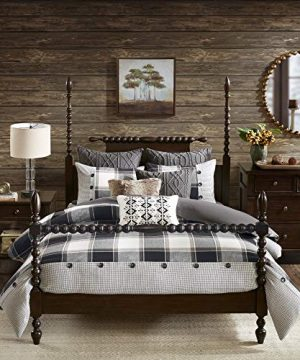 MADISON PARK SIGNATURE Urban Cabin Cotton Jacquard Comforter Set Queen92x96 Plaid Brown 0 0 300x360