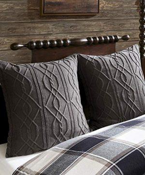 MADISON PARK SIGNATURE Urban Cabin Cotton Jacquard Comforter Set Queen92x96 Plaid Brown 0 2 300x360