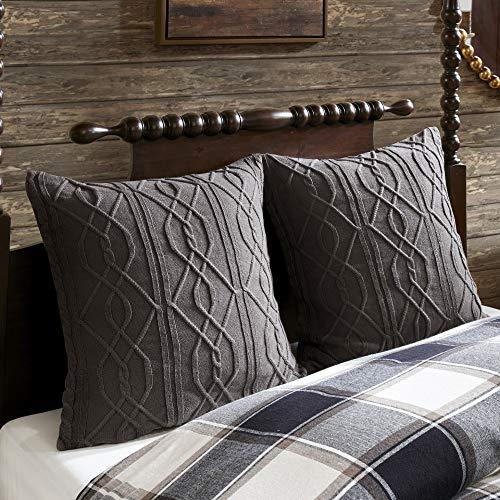 MADISON PARK SIGNATURE Urban Cabin Cotton Jacquard Comforter Set Queen92x96 Plaid Brown 0 2