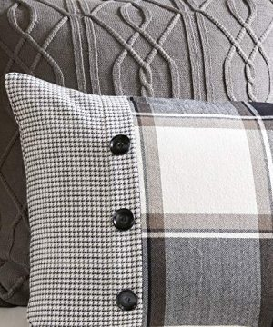 MADISON PARK SIGNATURE Urban Cabin Cotton Jacquard Comforter Set Queen92x96 Plaid Brown 0 4 300x360