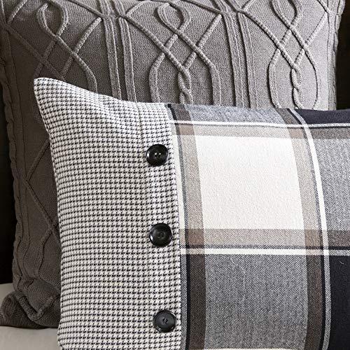 MADISON PARK SIGNATURE Urban Cabin Cotton Jacquard Comforter Set Queen92x96 Plaid Brown 0 4