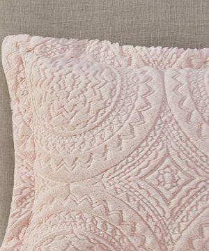 Madison Park Arya Medallion Pattern Ultra Soft Luxury Premium Plush Comforter Mini Bedding Set FullQueen Blush 0 3 300x360