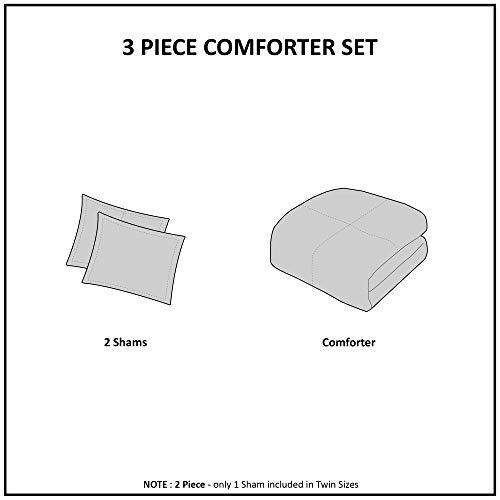 Madison Park Arya Medallion Pattern Ultra Soft Luxury Premium Plush Comforter Mini Bedding Set FullQueen Blush 0 4