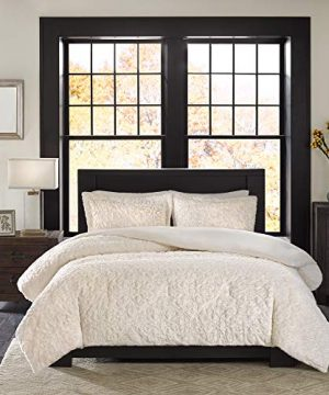 Madison Park Bismarck FullQueen Size Bed Comforter Set Ivory Embroidered Medallion 3 Pieces Bedding Sets Faux Fur Plush Bedroom Comforters 0 0 300x360