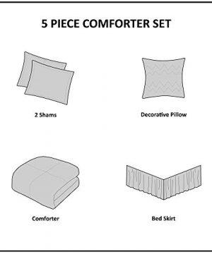 Madison Park Celeste 5 Piece Comforter Set White Queen 0 3 300x360
