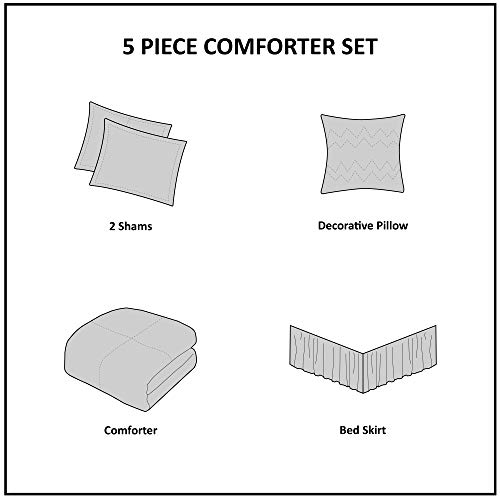 Madison Park Celeste 5 Piece Comforter Set White Queen 0 3