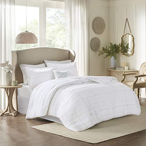 Madison Park Celeste 5 Piece Comforter Set White Queen 0