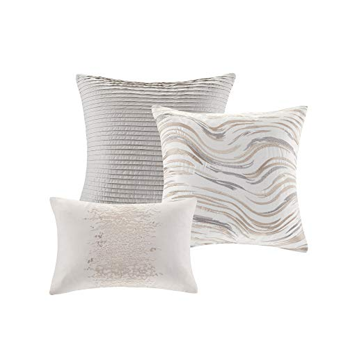 Madison Park Emory 7 Piece Cotton Sateen Comforter Set King104x92 Rose GoldBeige 0 1