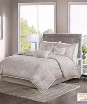 Madison Park Emory 7 Piece Cotton Sateen Comforter Set King104x92 Rose GoldBeige 0 300x360