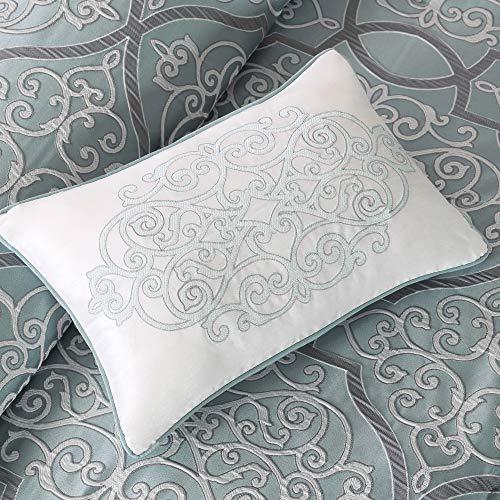 Madison Park LaVine 12 Piece Jacquard Comforter Set Blue King 0 2